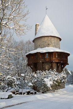 Monk Tower fortress, Kiiu, Estonia