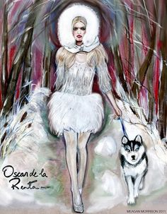 Fashion illustration by Maegan Morisson