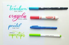 *READ* Lettering With Crayola Markers