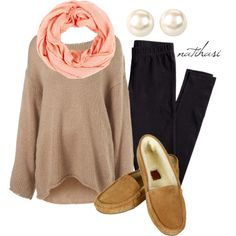 """Comfy Fall Outfit"" by natihasi on Polyvore. Totally wear this while cuddling and drinking hot chocolate!"