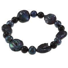 La Preciosa Round and Oval Pearl Stretch Bracelet, Women's