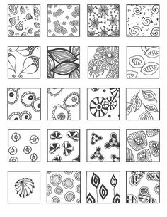 Pattern sheet - zendoodle Emily Perkins flickr