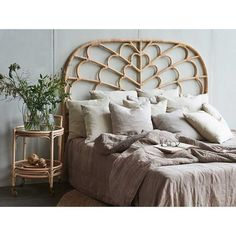 This beautifull headboard is a new addition to our Originals collection. The headboard gives you the beautifull warm rattan atmosphere in your bedroom. Rattan Headboard Bedroom Interior Indoor only Width: 180 cm Furniture, Rattan Headboard, Handmade Furniture, Bedroom Interior, Home Decor, Woven Furniture, Headboard, Cozy Interior, Bedroom Headboard