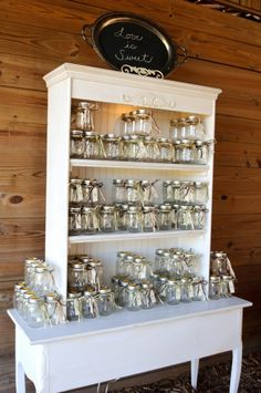 should we do a set up like this for their mason jar cups or have them set on table already?