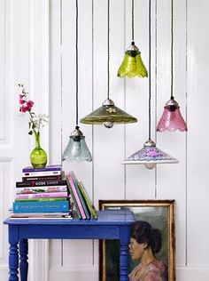 love this grouping of fun lights