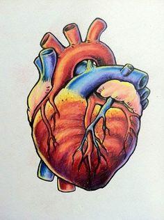 Biological Heart Tattoo Design