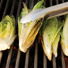 Grilled Romaine Hearts with Caesar Vinaigrette Recipe - Healthy Grilling Recipes: Unusual Foods to Grill - Shape Magazine