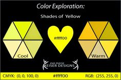 Eva Maria Keiser Designs: Explore Color:  Shades of Yellow