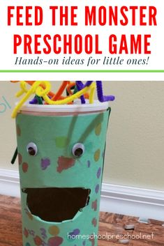 Preschoolers will practice shape recognition as they play this Feed the Monster game. The hungry monster is waiting for your kids to feed him his next shape snack. Play Therapy Activities, Monster Activities, Preschool Math Games, Monster Games, Social Skills Activities, Therapy Games, Preschool Classroom, Infant Activities, Teach Preschool