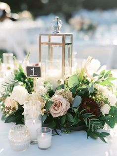 Romantic floral centerpiece: http://www.stylemepretty.com/little-black-book-blog/2016/02/09/charming-romantic-maravilla-gardens-wedding/ | Photography: Erin J. Saldana - http://www.erinjsaldana.com/