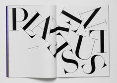 Playfulness in typography