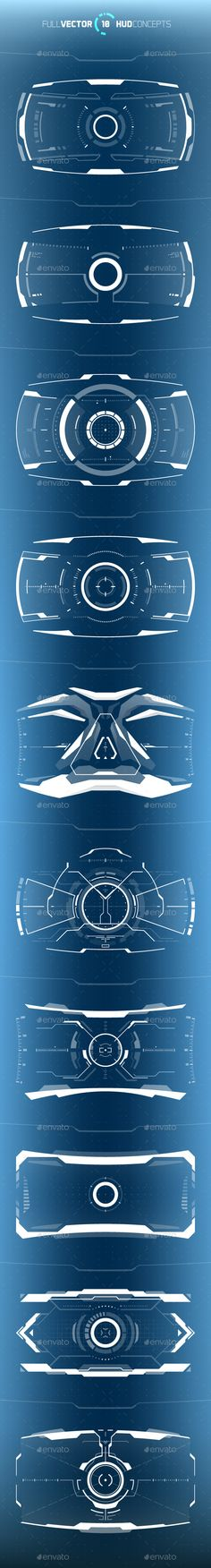Buy Conceptual 10 Hi-Tech HUD Set by on GraphicRiver. Set of 10 vector HUD concepts for futuristic and hi-tech graphical user interfaces, science content, virtual reality . Vector Design, Ui Design, Book Design, Graphic Design, Flyer Design, Installation Manual, Futuristic Technology, User Interface Design, Cool Tech