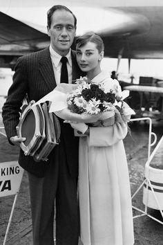 Audrey Hepburn and Mel Ferrer, 1956