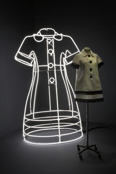 """MOSCHINO, Milan, Italy,""""Reflection in Neon"""", pinned by Ton van der Veer"""