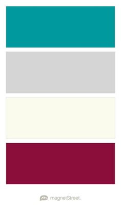 Teal, Silver, Ivory, and Burgundy Wedding Color Palette - custom color palette created at MagnetStreet.com