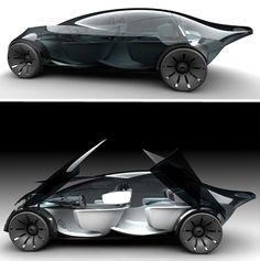 whoah! Folding concept electric car ❣ www.pinterest.com/WhoLoves/Car ❣ #cars #electriccar #supercar