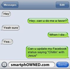 Lol I want to do this with my bff Funny Texts Jokes, Text Jokes, Funny Text Fails, Cute Texts, Epic Texts, Funny Text Messages, Stupid Funny Memes, Funny Relatable Memes, Haha Funny
