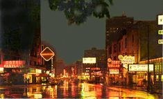 Who remembers when Rush St looked like this at night. Note all the different signs and how much different it looked back then. Chicago Neighborhoods, Chicago Photos, City Lights, Gold Coast, Old Photos, Times Square, The Neighbourhood, 1960s, Nostalgia