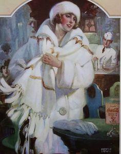 Andrew Loomis - Coca-Cola ad (looks like Barbara Stanwyck? Andrew Loomis, Coca Cola Poster, Coca Cola Ad, Pin Up, Antique Illustration, Vintage Illustrations, Ad Art, Paintings I Love, Artist Painting