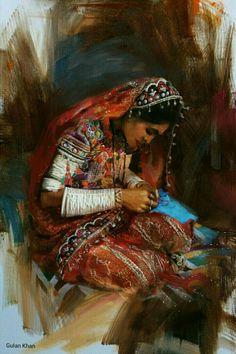 Beautiful Sindhi cultural portrait