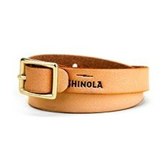 Shinola Leather Bracelet