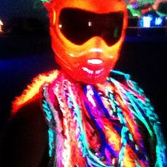 Neon Multicolored Yarn Burning Man Costume Accessory on Etsy, $20.00