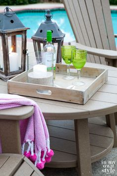 Outdoor furniture made out of recycled milk cartons | In My Own Style