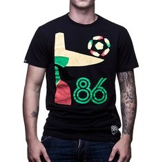 Show details for COPA Football - Mexico 86 Vintage T-Shirt - Black