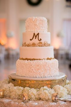 glam white cake | Stephanie A Smith Photography | Glamour & Grace