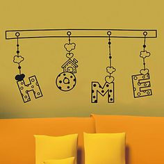 Words Home Wall Stickers – EUR € 24.74