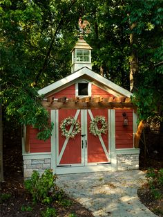 Decorated bright shed