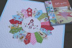 "Little Red doll quilt by Kerri of Lovely Little Handmades.  Quilt featured in ""Pretty in Patchwork Doll Quilts"" by Cathy Gaubert."