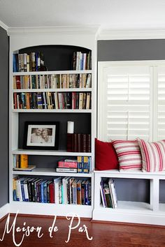 Maison de Pax: DIY Built-In Bookshelves For either side of the entertainment system!
