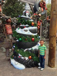Holidays at Disney California Adventure: Decorated Christmas Tree in Cars Land! Disney Halloween, Disney Christmas, Christmas Stuff, Family Christmas, Christmas Holidays, Christmas Ideas, Unusual Christmas Trees, Beautiful Christmas Decorations, Xmas Trees