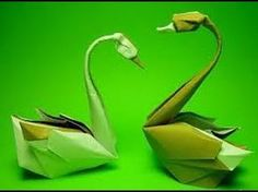 How to make Origami swan (hoang tien quyet) - YouTube