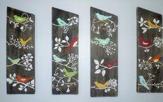 País aves pared decoración EXTRA rústico Shabby Chic letrero granero tablero madera
