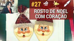 COMO FAZER ROSTO DE NOEL COM CORAÇÃO - AO VIVO-Pintando com o ♥ #27