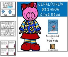 GERALDINE'S BIG SNOW CLOSE READ FIVE DAY LESSON PLANS for BALANCED LITERACY! $4