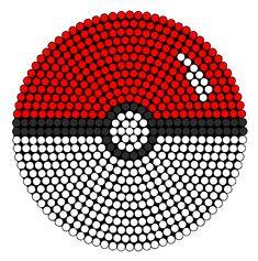 PokeBall bead pattern