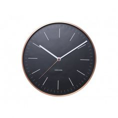 Buy Karlsson Minimal Wall Clock - Black online and save! This sleek and stylish black wall clock with copper casing from Karlsson will look perfect in any home and office. Copper Frame, Copper Wall, Thomas Kent Clocks, Minimalist Clocks, Home Clock, Unusual Clocks, Kitchen Clocks, Wall Clock Online, Wall Clock Design