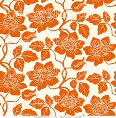 Illustration about Seamless floral background. Repeat many times. Illustration of botany, curl, orange - 6390549 Floral Pattern Vector, Motif Floral, Flower Wallpaper, Wallpaper Backgrounds, Zentangle, Graphic Design Tools, Floral Backdrop, Pattern Images, Pattern Design