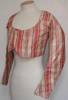 Silk tafetta jacket, 1st quarter of 19th century, France (à retrouver sur la base Joconde.