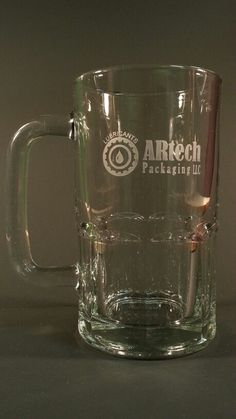 Customer logo engraved on a beer mug, took their logo from a letter head then engraved it on the beer mug made in the USA Engraved Beer Mugs, Letterhead, Lettering, Logo, Usa, Tableware, Logos, Dinnerware, Tablewares