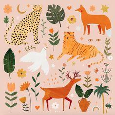 illustrations and art Art And Illustration, Illustrations Posters, Illustration Children, Inspiration Art, Art Inspo, Art Et Nature, Poster S, Art Design, Gouache