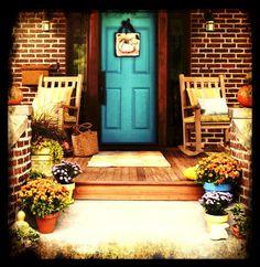 Pumpkin Door Hanger Harvest Blessings Autumn Print by SherriOhler, cute fall porch ideas