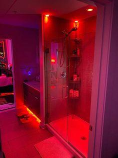 Neon Bedroom, Room Design Bedroom, Room Ideas Bedroom, Bedroom Decor, Bedroom Colors, Dream House Interior, Dream Home Design, Modern House Design, Dream Bathrooms