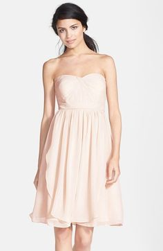 needs to be dressed up with good jewelry, belt etc  Jenny Yoo 'Keira' Convertible Strapless Chiffon Dress available at #Nordstrom