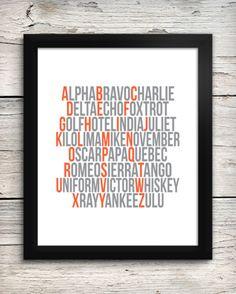 DIY - Phonetic Alphabet Aviation Alphabet Print