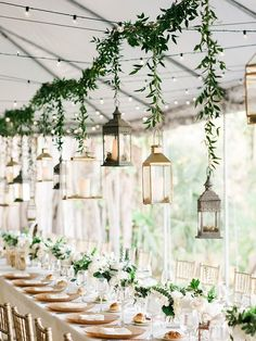 15 Gorgeous Lighting Ideas for Outdoor Weddings–Rustic Hanging Lanterns