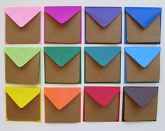 I love a mix of bright colour and kraft paper.